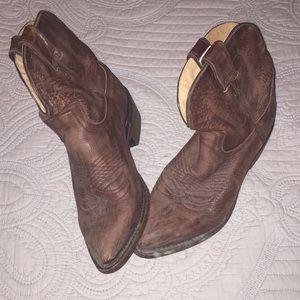 Frye leather booties
